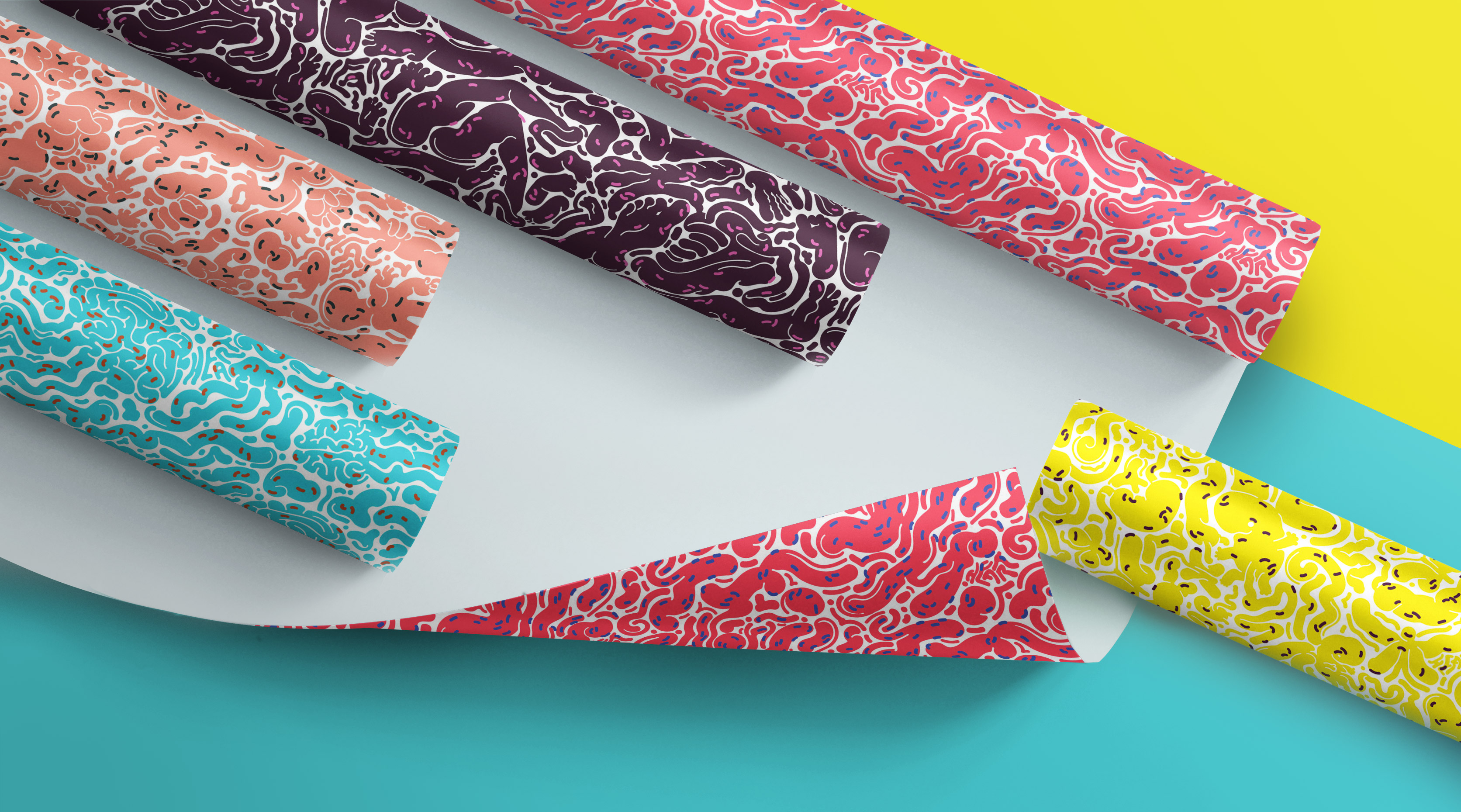 heart pattern wrapping paper